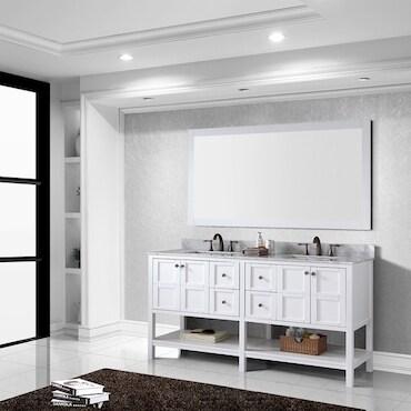 Modern White Bathroom Vanity