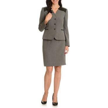 Brown Skirt Suit