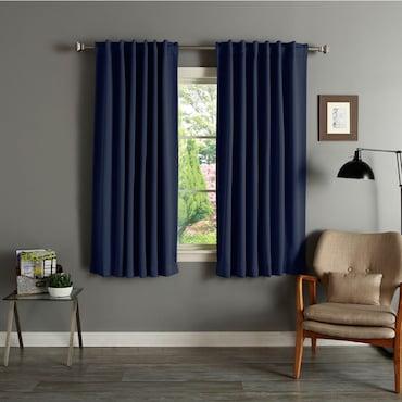 Navy Blue Blackout Curtains