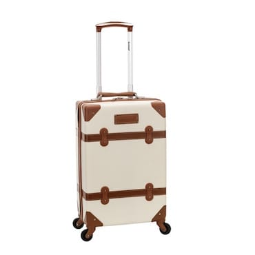 Beige and Brown Hardside Luggage
