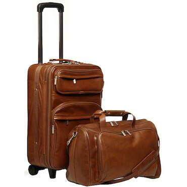Brown Carry-On Leather Luggage