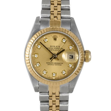 Silver and Gold Rolex Watch