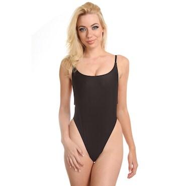 Black One-Piece Swimwear