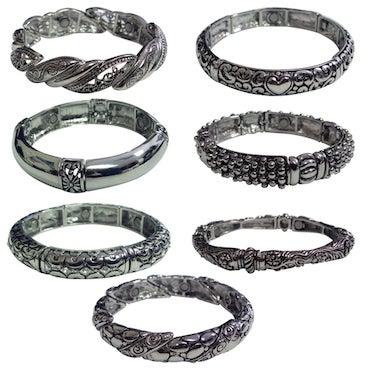 Magnetic Holistic Silver Bracelet