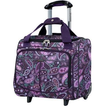 Purple Paisley Nylon Luggage