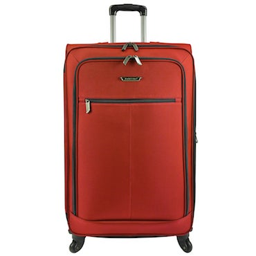 Red Telescoping Handle Luggage