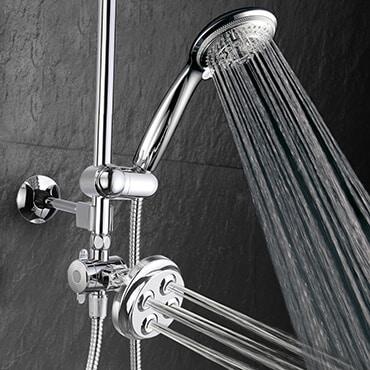 Silver 3-in-1 shower head