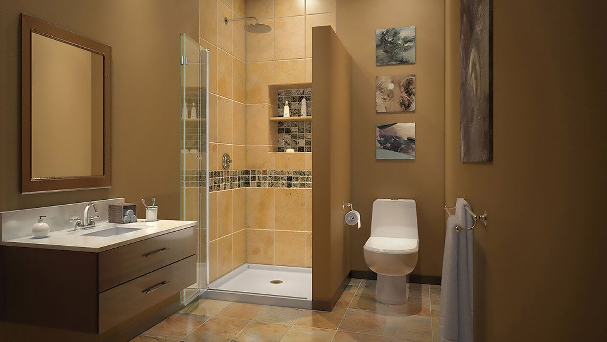 Bathroom featuring a beautiful tiled shower