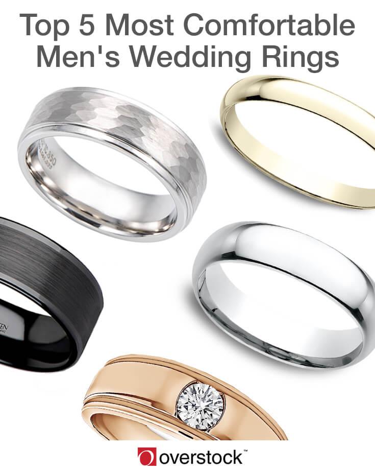 top 5 most comfortable mens wedding rings - Overstock Wedding Rings