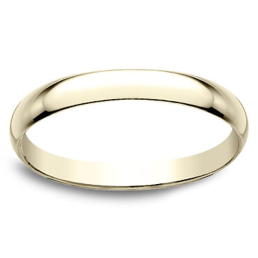 10 K yellow gold 2 millimeter wedding band