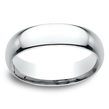 Plain white gold men's wedding band