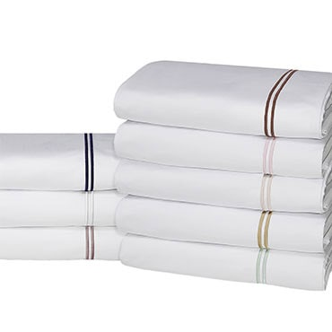Stacked embroidery set of Egyptian cotton sheets