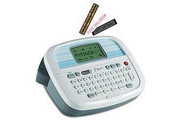 white electronic labelmaker