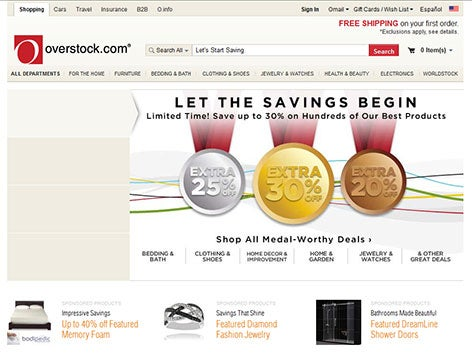 2012 s Homepage. About Us   Overstock com