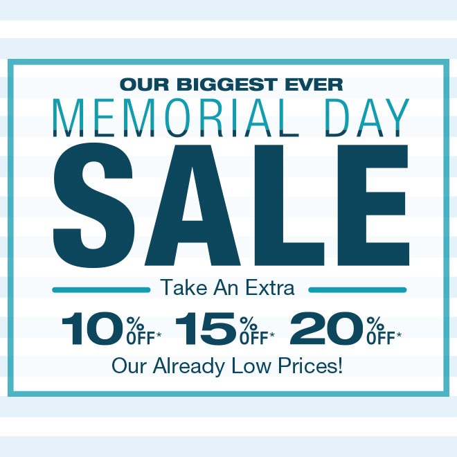 Memorial Day Sale Shop Now >
