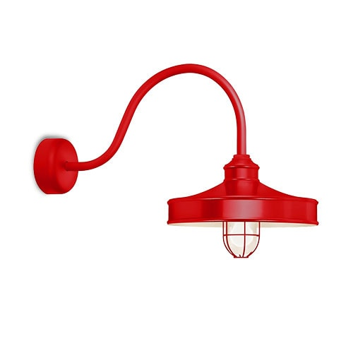 Red wire wall sconce