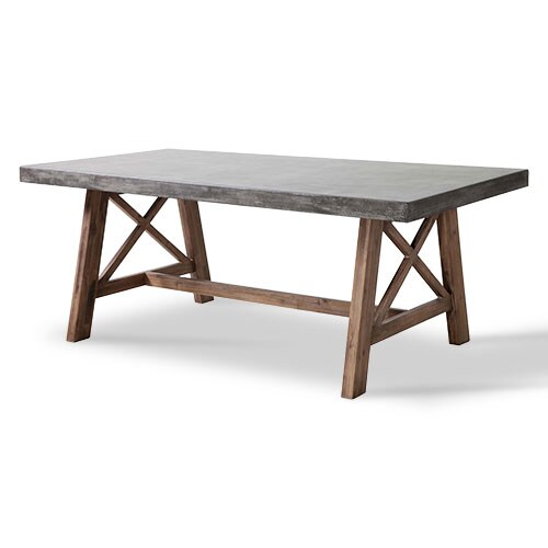 Natural wood and cement table