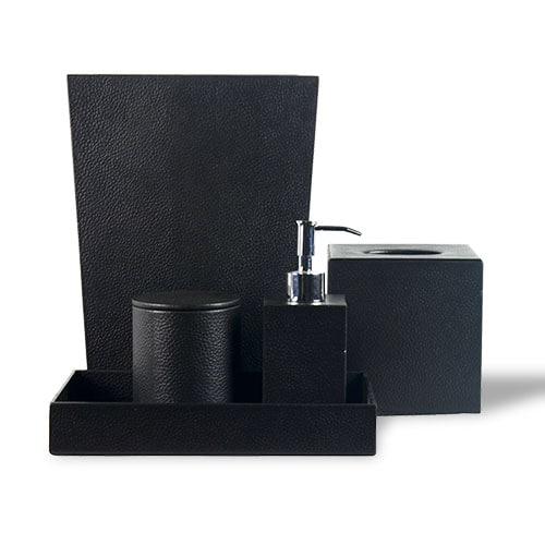 Leather 5-Piece Bathroom Set
