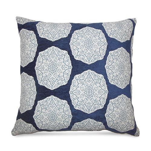 Geometric Indigo Throw Pillow