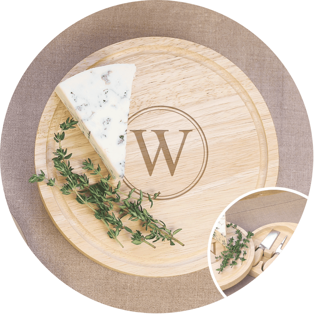 A personalized cheese board, the perfect unique gifts for Christmas this year