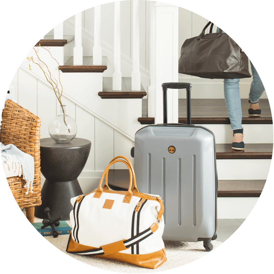 A set of luggage, a perfect Christmas gift for the woman who loves to travel