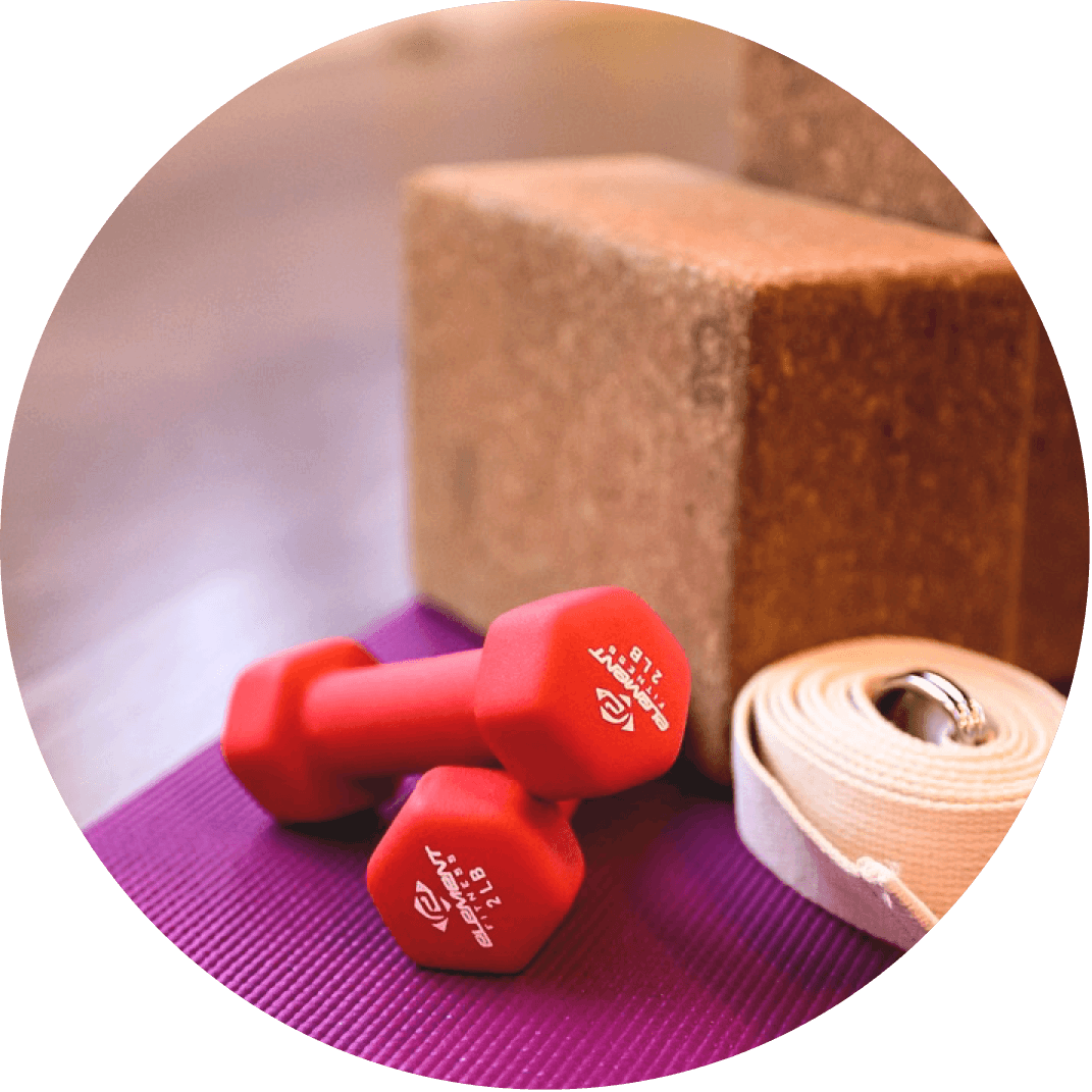 A yoga block and yoga mat, a perfect Christmas gift for the woman who loves to do yoga