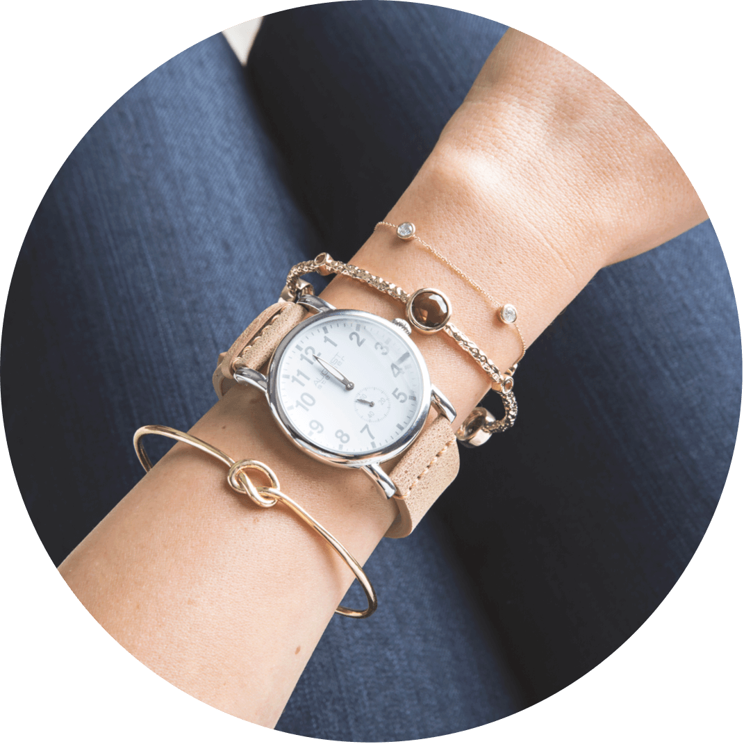 A fashion bracelet and watch, great gift ideas for friends