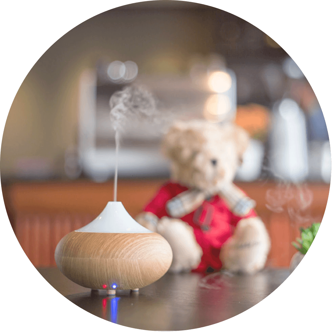 A small essential oil diffuser, a perfect healthy stocking stuffer idea