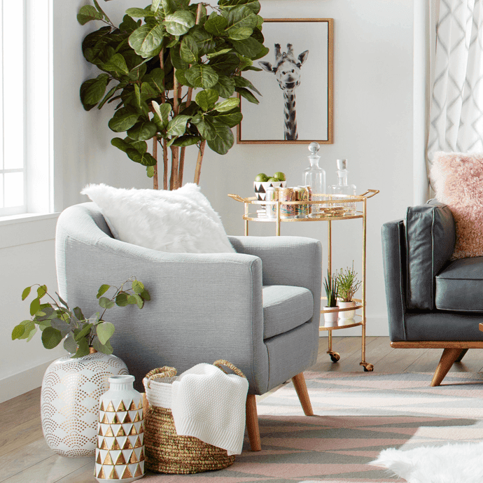 At Home with Ashley design challenge living room
