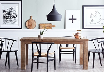 Nordic dining set with minimalistic style