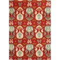 Alliyah Handmade Red Ikat New Zealand Blend Wool Rug (5' x 8')