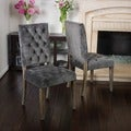 Saltillo Velvet Dining Chair (Set of 2) by Christopher Knight Home