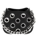 Prada Top Chain Handle Grommet Rounded Leather Bag (As Is Item)