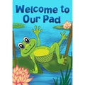 Welcome to Our Pad Synthetic Fiber Door Mat
