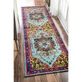 nuLOOM Traditional Vibrant Vines Ornamental Runner Rug (2'6 x 12')