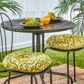 Round 15-inch Outdoor Bistro Chair Cushions (Set of 2)