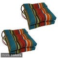 Blazing Needles 16-inch Square Tufted Outdoor Chair Cushions (Set of 4)