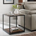 Ameriwood Home Canton Accent Table with Metal Frame