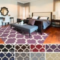 Hand-Tufted Intect Moroccan Trellis Wool Rug (4' x 6')