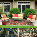 Hand-hooked Gena Contemporary Floral and Paisley Indoor/Outdoor Area Rug (3' x 5')