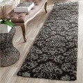 Safavieh Florida Shag Dark Brown/ Smoke Damask Runner (2'3 x 9')