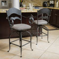 Wheaton Iron Swivel Barstool (Set of 2) by Christopher Knight Home