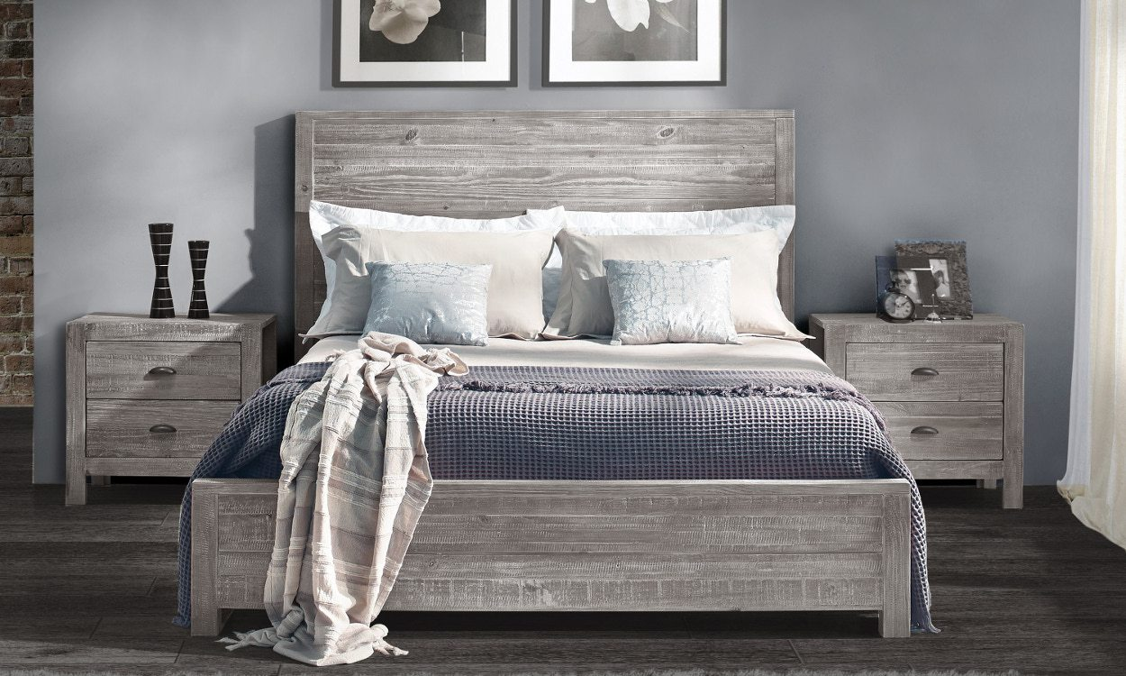 Best Bed Frames For A Master Bedroom Grey Wooden Frame With Bedding