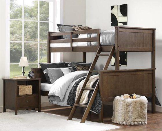 Brown bunk beds
