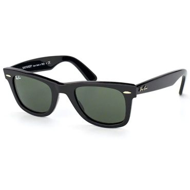 A pair of wayfarer Ray-Bans