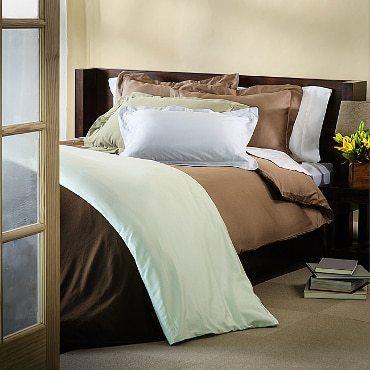 Brown down comforter