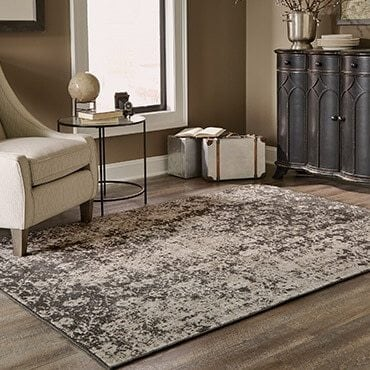 Grey and brown area rug
