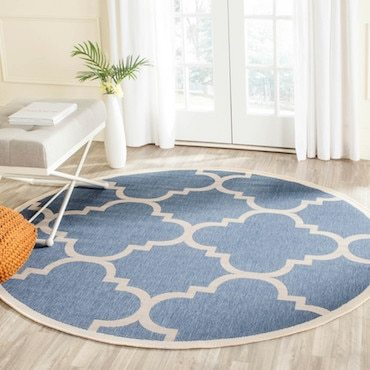 Round outdoor rug