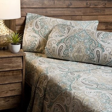 Paisley bed linens