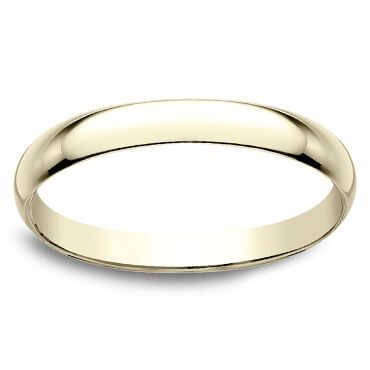 Thin gold wedding bands